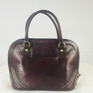 Vintage BRAHMIN Alma Domed Leather Satchel